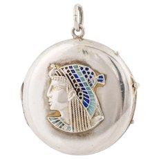 Silver Egyptian Revival Locket