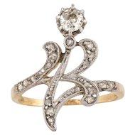Platinum 18K Diamond Ring
