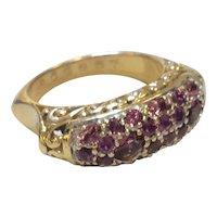 John Hardy 18K Pink Sapphire Ring