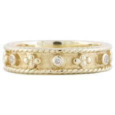 14K Yellow Gold Band with Diamonds