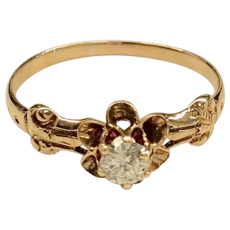 Rose Gold Edwardian Diamond Ring