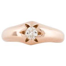 Rose Gold Gypsy Set Diamond Ring