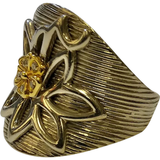 Sonia B 14K Silver Flower Ring