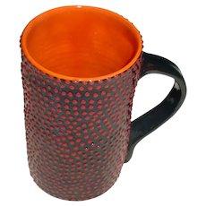 Original Vintage Signed Randy O'Brien Modern Studio Art Pottery Tall Mug / Tucson,  Arizona Artist and Alfred University Student!