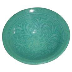Beautiful Signed Mark Blumenfeld Modern Studio Art Pottery Turquoise Blue Glaze Bowl Laguna Beach Southern California Design Ceramics!
