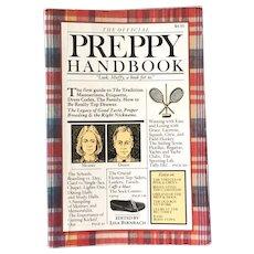 Vintage 1980 Book The Official Preppy Handbook by Lisa Birnbach