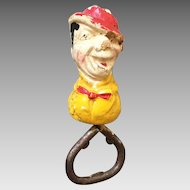 Vintage Novelty Whiteface Clown Old Bottle Opener