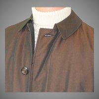 Vintage 1960s Copper Sharkskin Raincoat Briarcliff All Weather Coat Mens M L