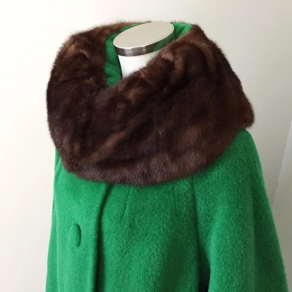 9bbd7dca74d Vintage 1960s NOS Mohair and Wool Lilli Ann Swing Coat with Bell   The  Vintage Merchant