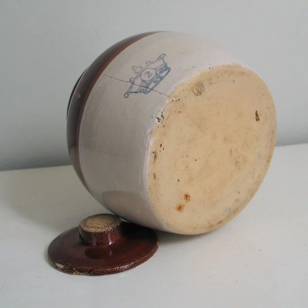 Vintage Rustic Brown N Tan Ransbottom Stoneware Ceramic