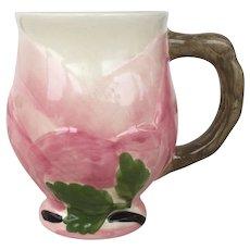 Vintage Franciscan Desert Rose Sculpted Footed Mug Made in Portugal Pink Green Cream