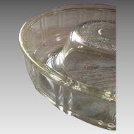 Vintage 1940s GLASBAKE Queen-Anne Clear Glass Baking Dish
