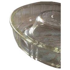 Vintage 1940s GLASBAKE Queen-Anne Clear Glass Baking Dish