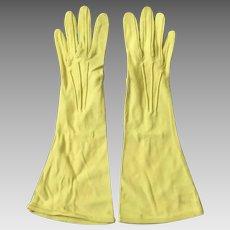 Vintage 1940s Chartreuse Van Raalte Slinky Nylon Gloves 6