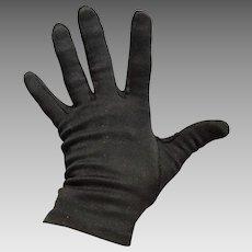 Vintage 1960s Short Black Ladies Cafe Gloves