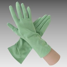 Vintage 1960s Mint Green Fashion Gloves from Japan OSFA