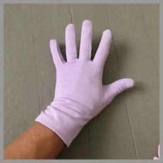 Vintage 1960s Pastel Purple Lilac Gloves with Ruched Side Seams
