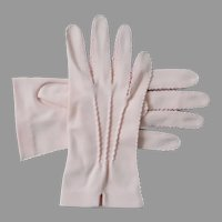 Authentic Vintage 1940s Blush Pink Hansen Shorties Gloves 7