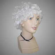 Halloween Theater Costume Curly White Hair Wig Clown Old Lady