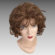 Vintage 1960s 1970s Soft Curly Brunette Wig Short Style Pyrel Costume Halloween Theater