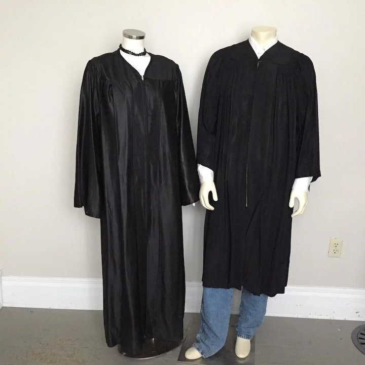 Vintage Collegiate Cap And Gown Black Graduation Gown Chicago New ...
