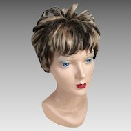 Vintage 1960s 1970s Frosted Short Shag Wig Costume Halloween Theater