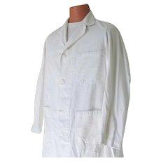 Vintage Ottenheimer All Cotton White Research Medical Lab Coat Men Unisex L XL Costume