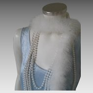 Vintage 1970s Pale Blue Crushed Velvet Knit Tank Flapper Dress with Fringe Hem Costume S M