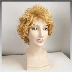 Vintage 1960s 1970s Golden Blonde Longer Shag Wig #10 Italy Costume