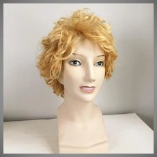 Vintage 1960s 1970s Golden Blonde Longer Shag Wig #10 Italy Costume