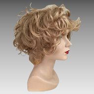 Vintage 1960s 1970s Strawberry Blonde Curly Shag Wig Hairpiece #6
