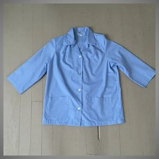 Vintage Blue Uniform Jacket Halloween Costume Medical Worker Beautician M L
