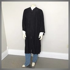 Vintage Collegiate Cap And Gown Black Graduation Gown Chicago New York 50 XL Halloween Costume