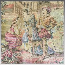 Antique Tapestry of Renaissance Venice Made in Belgium