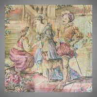 Antique Tapestry of Renaissance Venice Made in Belgium