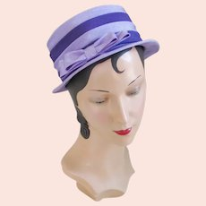 Vintage 1960s Two Tone Lilac and Grape Purple Tiered Hat
