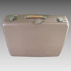 Vintage 1960s MCM Space Flight Luggage by Osh Kosh  Rectangular Cocoa Brown Suitcase