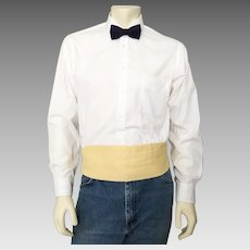 Vintage 1970s Menswear Formal Cummerbund Yellow After Six L XL  36 to 44