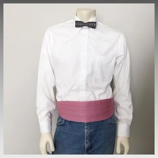 Vintage 1970s Cummerbund Belt Formal-wear Menswear