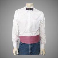 Vintage 1970s Cummerbund Belt Formal-wear Menswear