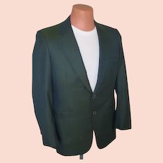 Vintage 1950s 1960s VLV Sharkskin Jacket in Green Black with Griffin Shark Lining M L