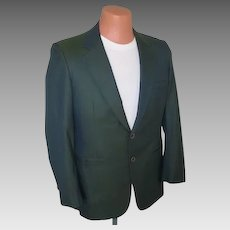 Vintage 1950s 1960s VLV Sharkskin Jacket in Green Black with Griffin Shark Lining