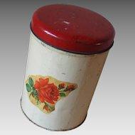 Vintage Red Rose Kitchen Storage Canister