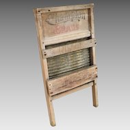 Vintage Brass Washboard Laundry Scrubbing Board by Champion