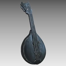 Vintage 1960s Hoda Metal Mandolin Stringed Instrument Wall Hanging Decor