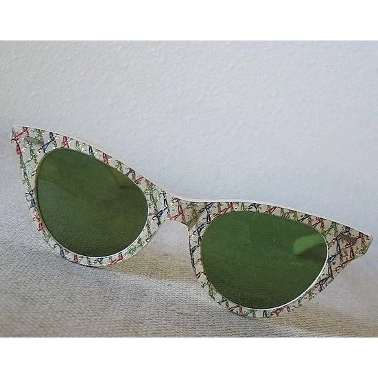 55662b1dfcb Vintage Early Cool-Ray Polaroid Sun Glasses  80 Glitter Sunglasses   The  Vintage Merchant