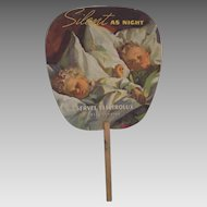 Vintage 1937 1930s Advertising Hand Fan Nostalgia Refrigerator Ad Lithograph