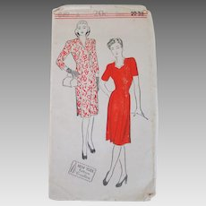 Rare Original Vintage 1940s New York Creation Pattern Princess Cut Dress Number 849 Bust 38
