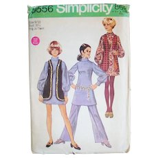 Vintage 1969 Simplicity Dress Vest Trousers Sewing Pattern 8556