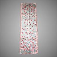Vintage 1960s Vera Scarf Long Skinny Neckscarf Headscarf